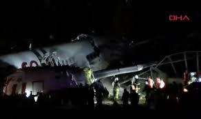 Plane broke into pieces