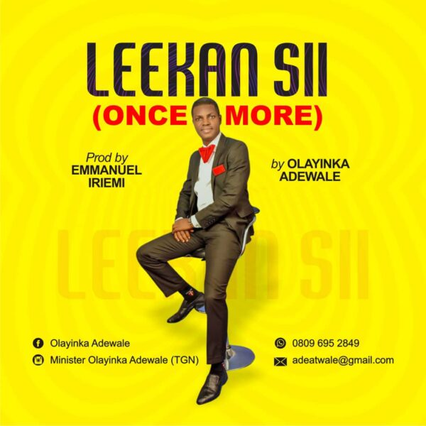 Olayinka Adewale - Leekan Sii (Once More)